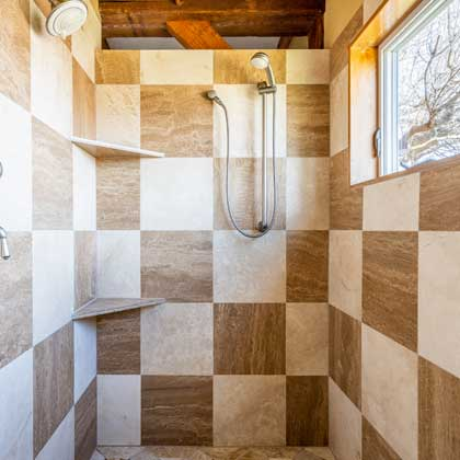 Expansive Walk-in Shower